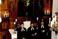 350 lecie parafii_ks. J. Hause, ks. W. Nast i ks. A. Pilch